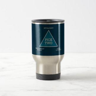 Taza de café del triángulo de la selección dos