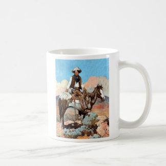 Taza de café del vaquero de la ley y orden