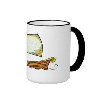 Taza de café del velero de los nórdises