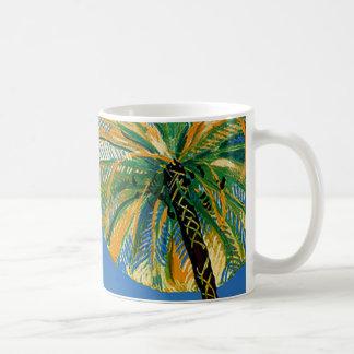 Taza de café del viaje de Cote d'Azur de las palme