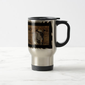 Taza de café del viaje de la cebra