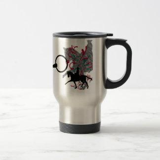 Taza de café del viaje de la elegancia del Dressag