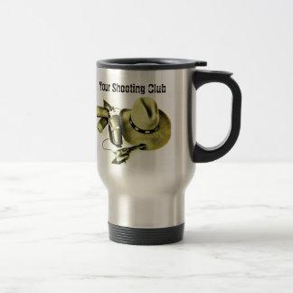 Taza de café del viaje del engranaje del tiroteo d