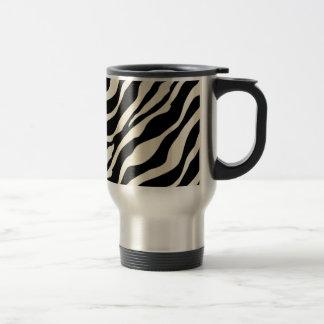 Taza de café del viaje del estampado de zebra