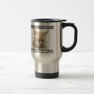 Taza de café del viaje del gato del zen