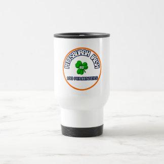 Taza de café del viaje del irlandés de Pittsburgh