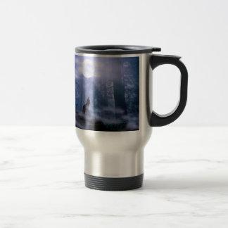 Taza de café del viaje del lobo