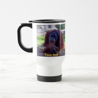 Taza de café del viaje del orangután