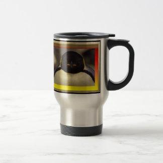 Taza de café del viaje del pingüino
