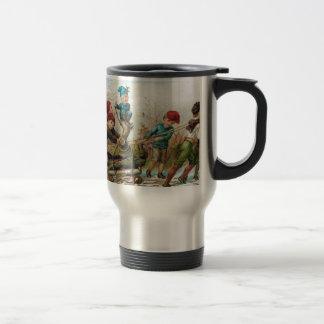 Taza de café del viajero del registro de Yule del