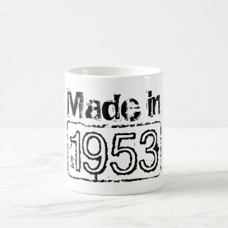 Taza de café del vintage con el año de encargo el