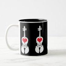 Taza de café del violín