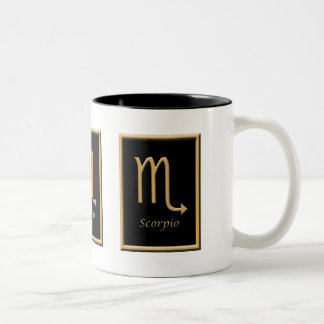Taza de café del zodiaco del diseño del oro del
