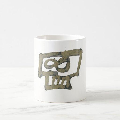 taza de café - diseño 003 del cráneo