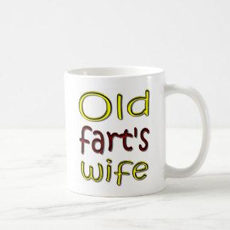 Taza de café divertida de la esposa viejo Fart