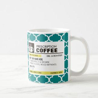 Taza de café divertida de la prescripción - modelo