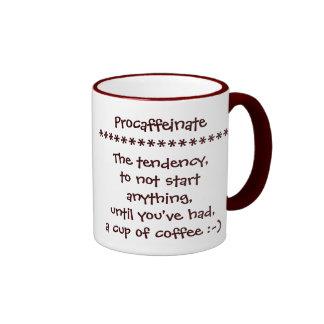 Taza de café divertida de Procaffeinate para los