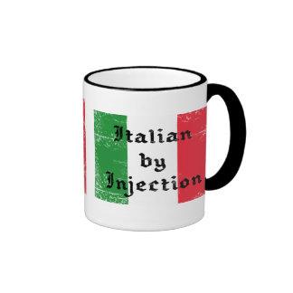 Taza de café divertida del campanero del italiano