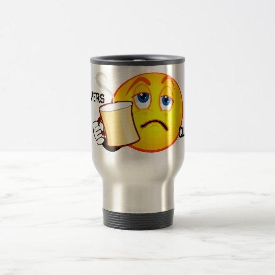 Taza de café divertida del club de las resacas