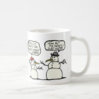 Taza de café divertida del muñeco de nieve