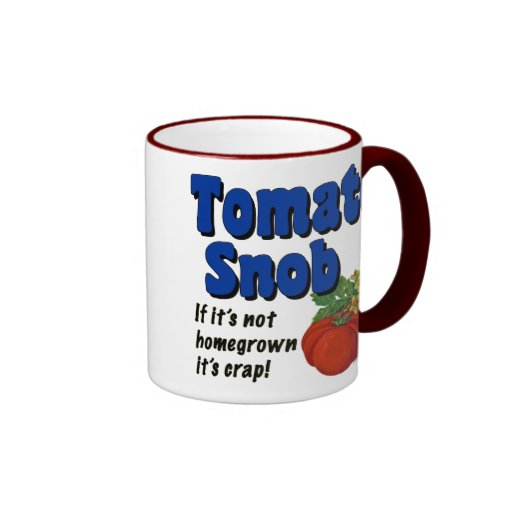 Taza de café divertida del refrán del snob del tom