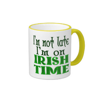 Taza de café divertida del tiempo irlandés