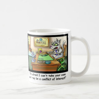 Taza de café divertida divertida del gato y del
