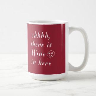 Taza de café divertida en rojo