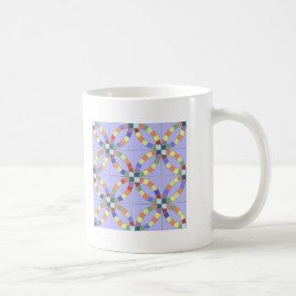 Taza de café doble del anillo de bodas