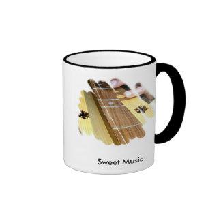 Taza de café dulce de la música