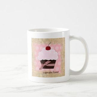 Taza de café dulce del amante de la magdalena