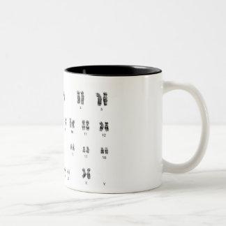 taza de café elegante de la hembra de la genética