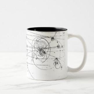 taza de café elegante de las pistas de partícula d