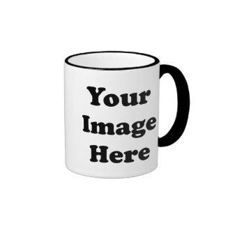 Taza de café en blanco de encargo del campanero de