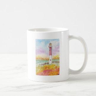 Taza de café en colores pastel de la acuarela del