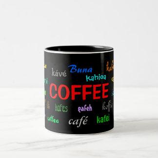 Taza de café en muchas idiomas