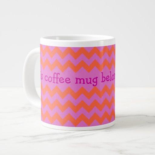 Taza de café enorme de encargo, magenta, galones