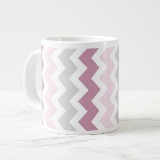 Taza de café enorme de los galones grises rosados taza jumbo