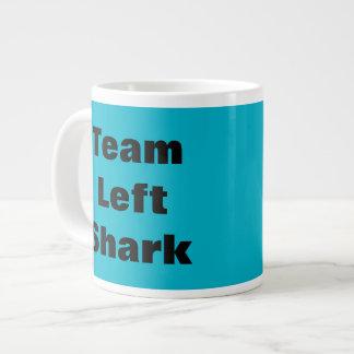 Taza de café enorme dejada equipo del tiburón tazas extra grande