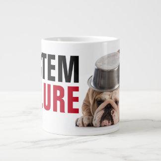 Taza de café enorme divertida del fallo del taza grande