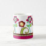Taza de café enrrollada de las flores