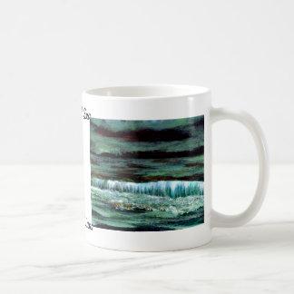 Taza de café esmeralda de la decoración de la coci