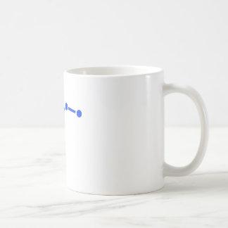 Taza de café estrellada blanca