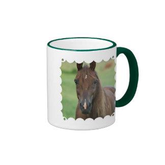 Taza de café excelente del caballo de raza