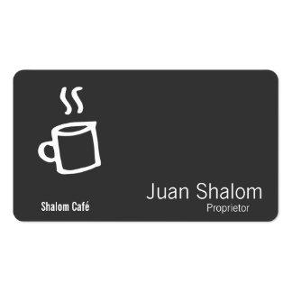 Taza de café exhausta plantillas de tarjetas de visita