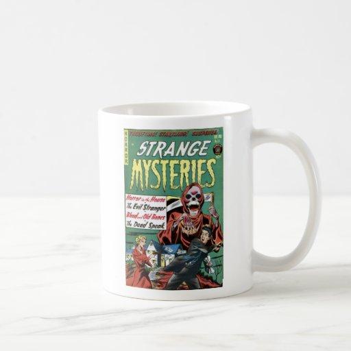 Taza de café extraña de los misterios