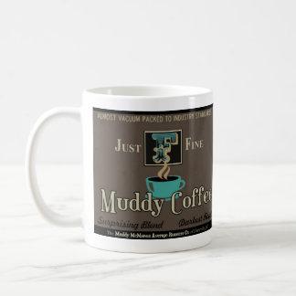 Taza de café fangosa