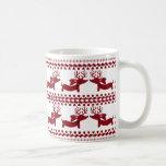 Taza de café fea del té del Dachshund del reno del