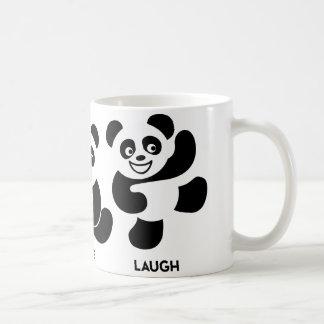 Taza de café feliz de 3 pandas