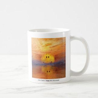 taza de café feliz de la cara de Turner del jmw